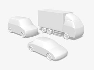 自動車のモノクロイメージのイラスト素材 [FYI01415718]