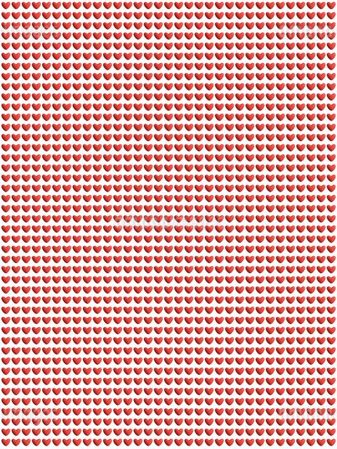 整列するたくさんの赤いハートのイラスト素材 [FYI01415738]