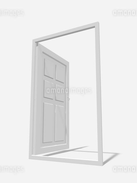 扉のモノクロイメージのイラスト素材 [FYI01415774]