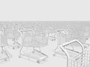ショッピングカートのモノクロイメージのイラスト素材 [FYI01415878]