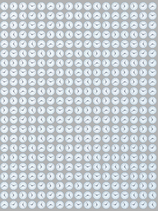 整列するたくさんの掛け時計のイラスト素材 [FYI01415927]