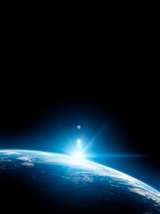 地球と日の出の写真素材 [FYI01415947]