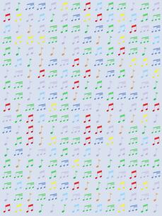 整列するカラフルなたくさんの音符のイラスト素材 [FYI01415996]