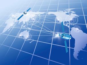 人工衛星による世界的な通信網をイメージのイラスト素材 [FYI01416088]