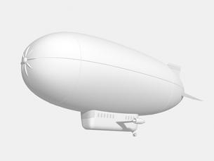 飛行船のモノクロイメージのイラスト素材 [FYI01416128]
