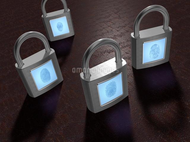 指紋認証方式の錠前の写真素材 [FYI01416147]