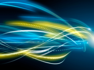 よじれる光線の写真素材 [FYI01416205]