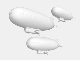 飛行船のモノクロイメージのイラスト素材 [FYI01416248]