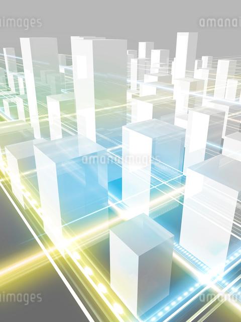 ネットワーク都市イメージのイラスト素材 [FYI01416471]