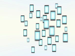 浮遊するスマートフォンのイラスト素材 [FYI01416480]