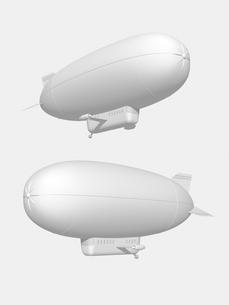 飛行船のモノクロイメージのイラスト素材 [FYI01416481]