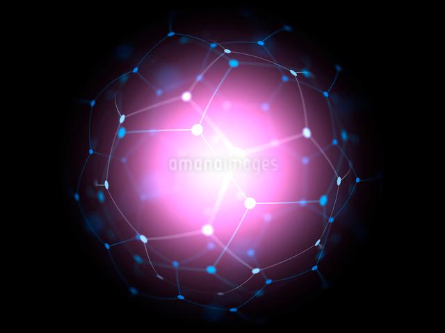 黒背景の球体図形オブジェクトのイラスト素材 [FYI01417059]