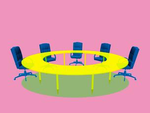 会議テーブルとビジネスチェアのイラスト素材 [FYI01417101]