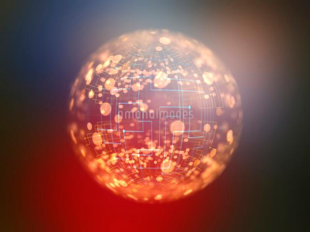 装飾背景の光球体イメージのイラスト素材 [FYI01417284]
