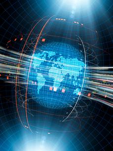グローバル経済イメージの地球地図のイラスト素材 [FYI01417296]