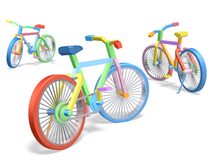 カラフルな自転車のイラスト素材 [FYI01417333]