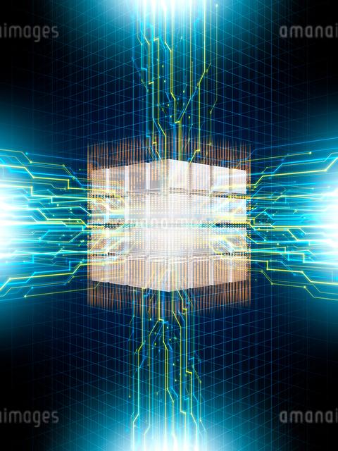 エネルギーを放出するコア回路のイラスト素材 [FYI01417396]