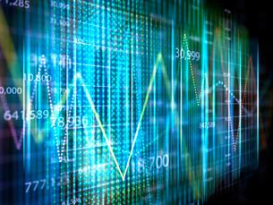 市場の金融相場をグラフ分析のイラスト素材 [FYI01417460]