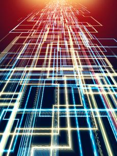 回路形状の光線背景のイラスト素材 [FYI01417487]