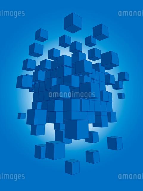 白いブロックがランダムに分裂のイラスト素材 [FYI01417688]
