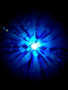幾何図形と光のイメージの写真素材 [FYI01417806]
