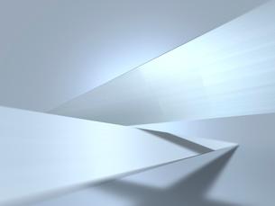 突起した金属のパネルが交差する空間のイラスト素材 [FYI01417840]
