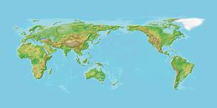 日本列島中心世界地図の写真素材 [FYI01417919]