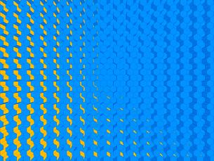 立体的に組まれたブロック背景のイラスト素材 [FYI01418026]