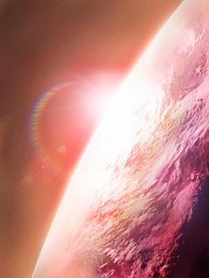 地暖色の球イメージのイラスト素材 [FYI01418057]