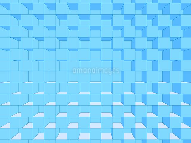 立体的に組まれたブロック背景のイラスト素材 [FYI01418275]