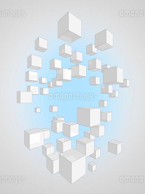 ブロック出来た複数の樹木のイラスト素材 [FYI01418285]