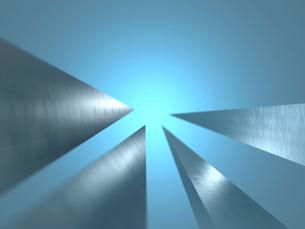 突起した金属が中央を指す空間のイラスト素材 [FYI01418318]
