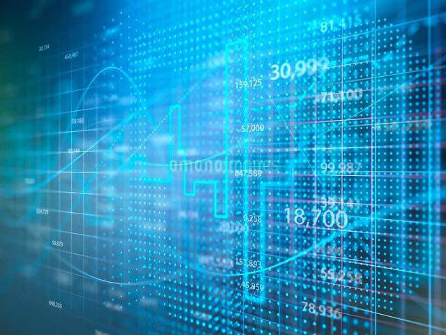 市場の金融相場をグラフ分析のイラスト素材 [FYI01418381]