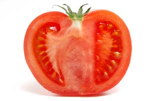 トマトの半切の写真素材 [FYI01419192]