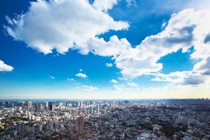 東京タワーと都心の街並の写真素材 [FYI01420323]