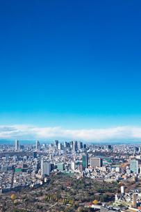 東京タワーと都心の街並の写真素材 [FYI01420559]