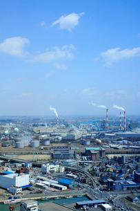 東区周辺の工場地帯の写真素材 [FYI01421076]
