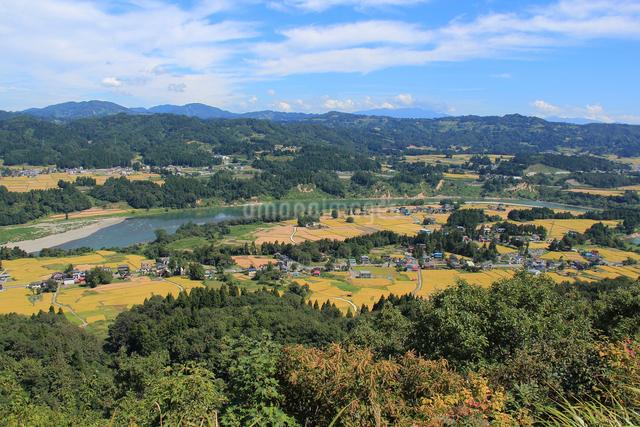 山本山から望む棚田風景の写真素材 [FYI01421222]
