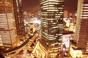 夜景のビルの写真素材 [FYI01423313]
