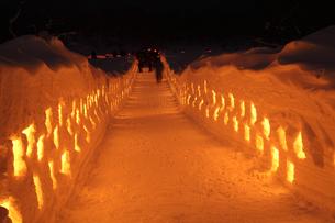 福島の雪祭りの光の写真素材 [FYI01423546]