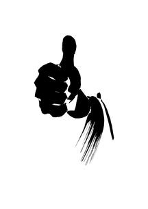 親指を立てるビジネスマン イラストのイラスト素材 [FYI01424061]