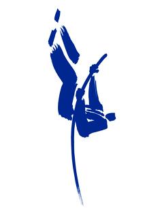 棒高跳びをするビジネスマンのイラスト素材 [FYI01424150]