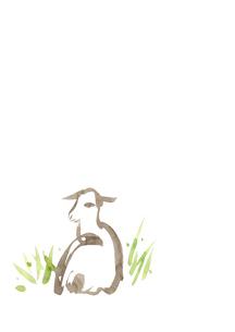 無地右側横になる羊のイラスト素材 [FYI01424225]