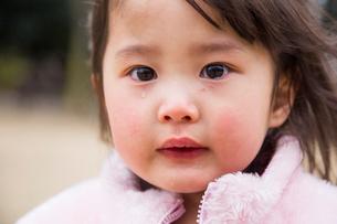 涙をながす女の子アップの写真素材 [FYI01424359]
