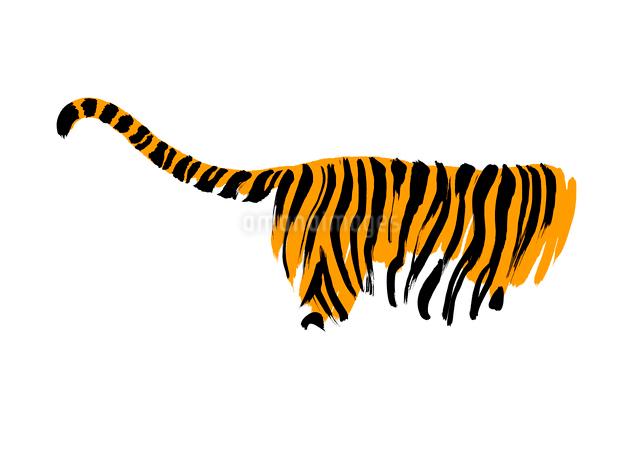 トラの尻尾のイラスト素材 [FYI01424512]