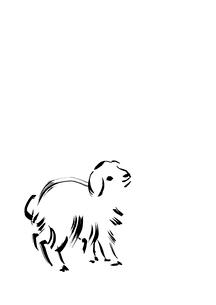 無地右側小羊のイラスト素材 [FYI01424727]