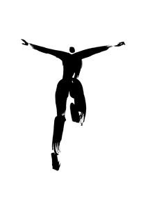 走る人の後ろ姿のイラスト素材 [FYI01424837]