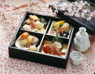 花見の松花堂弁当の写真素材 [FYI01424929]