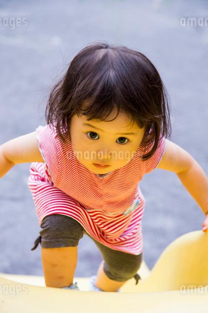 すべりだいで遊ぶ女の子の写真素材 [FYI01425250]