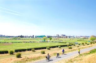多摩川の春の写真素材 [FYI01425488]